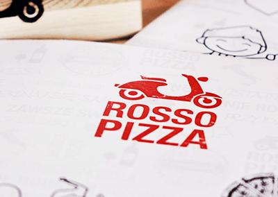 logo rosso pizza